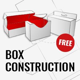 Box construction dieline