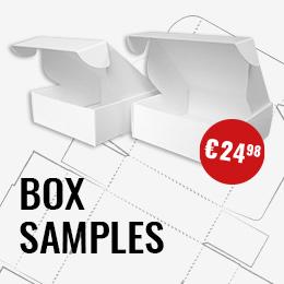 Sample packaging box